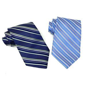 DKNY [Lot of 2] Neck Tie Striped Blue Silk